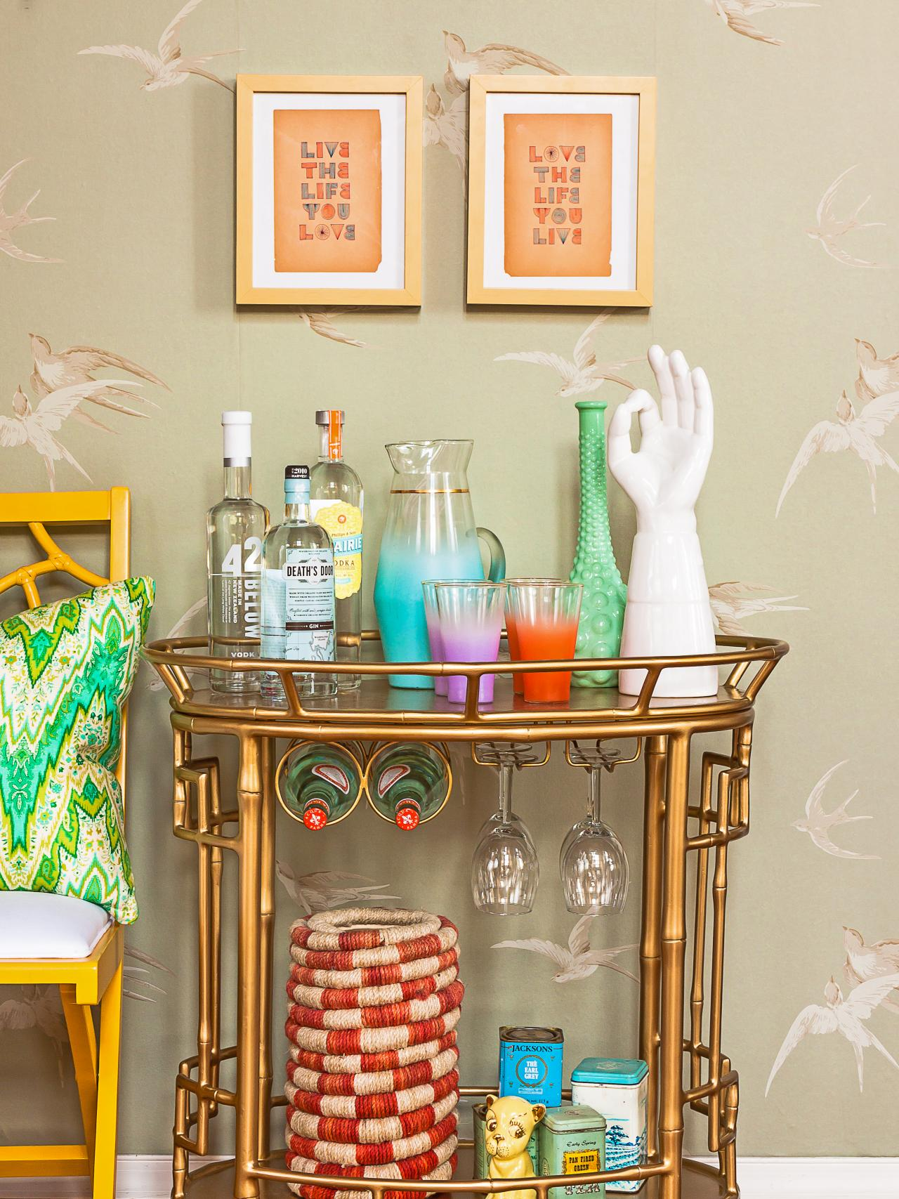Incredible bar carts for bar furniture ideas with gold bar cart and diy bar cart
