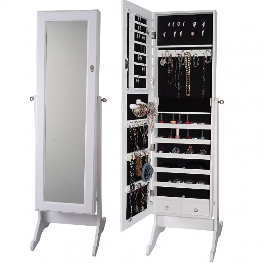 Incredible Cheval Mirror Jewelry Armoire For Home Furniture Ideas With White Cheval Mirror Jewelry Armoire