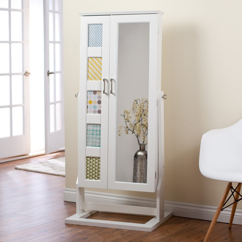 Inspiring Cheval Mirror Jewelry Armoire For Home Furniture Ideas With White Cheval Mirror Jewelry Armoire
