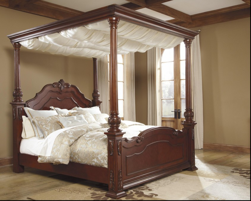 Inspiring King Canopy Bed For Classic Bedroom Ideas With King Size Canopy Bed
