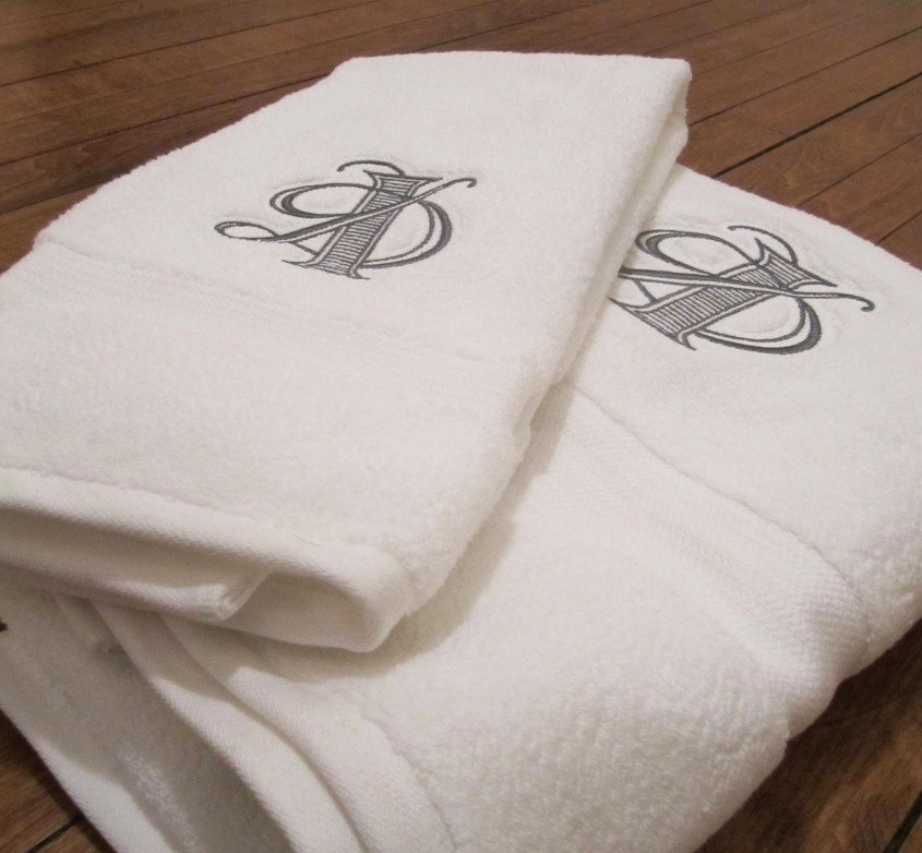 Inspiring Monogrammed Towels For Bathroom Ideas With Monogrammed Bath Towels