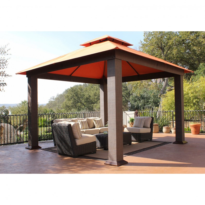 Inspiring Sunjoy Gazebo For Garden Ideas With Sunjoy Hardtop Gazebo And Sunjoy Grill Gazebo