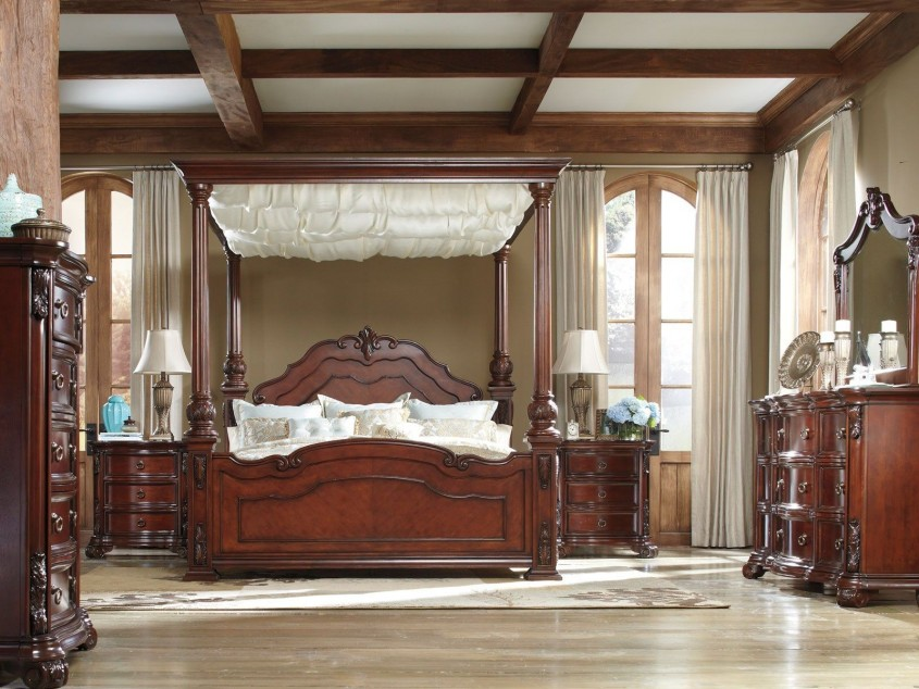 Interesting King Canopy Bed For Classic Bedroom Ideas With King Size Canopy Bed
