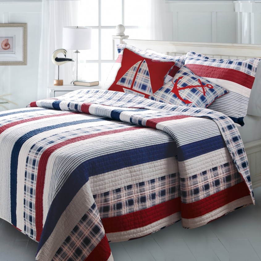 Interesting Plaid Bedding For Simple Bedroom Design With Ralph Lauren Plaid Bedding