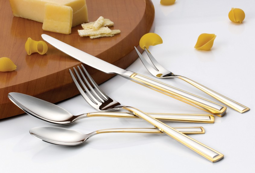 Magnificent Gold Flatware For Kitchen And Dining Sets Ideas With Gold Flatware Set