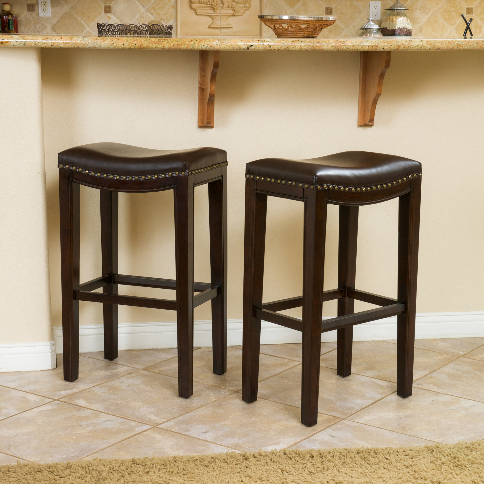 Magnificent leather bar stools for home furniture with leather swivel bar stools