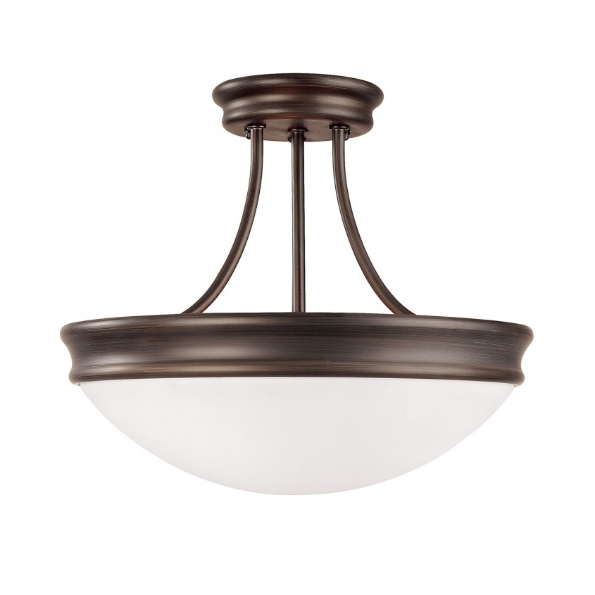 Magnificent Semi Flush Ceiling Light For Home Lighting Design With Brushed Nickel Semi Flush Ceiling Light