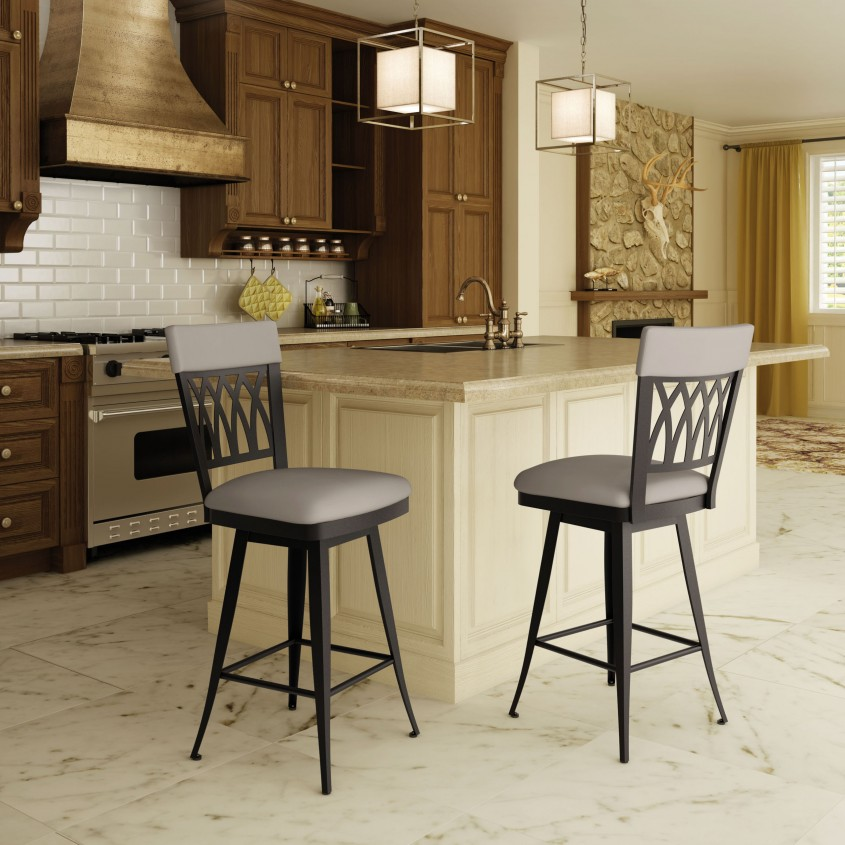 Marvellous Amisco Bar Stools With White Wooden Cabinet And Ceiling Light For Kitchen Furniture Ideas With Amisco Counter Stools