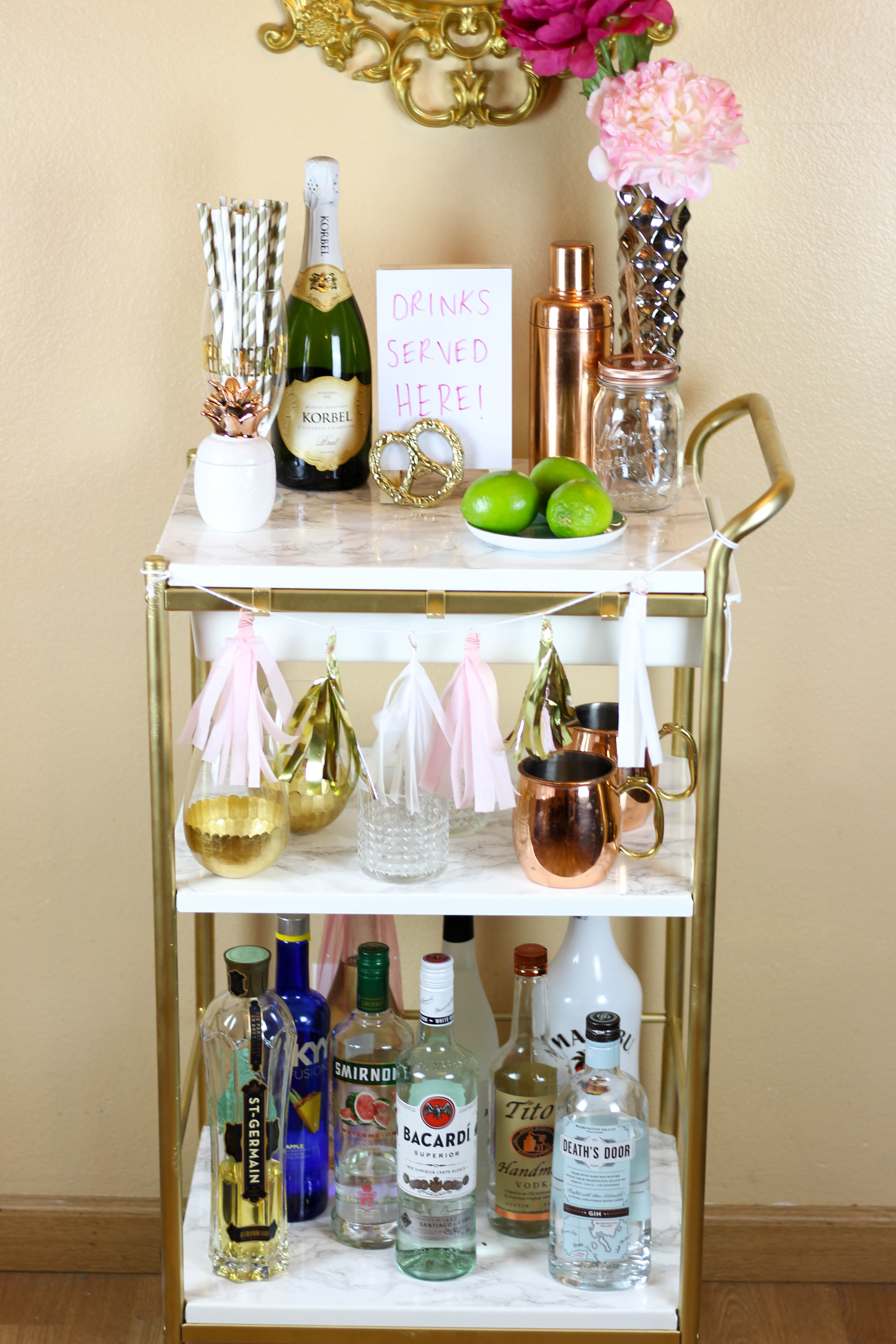 Mesmerizing bar carts for bar furniture ideas with gold bar cart and diy bar cart