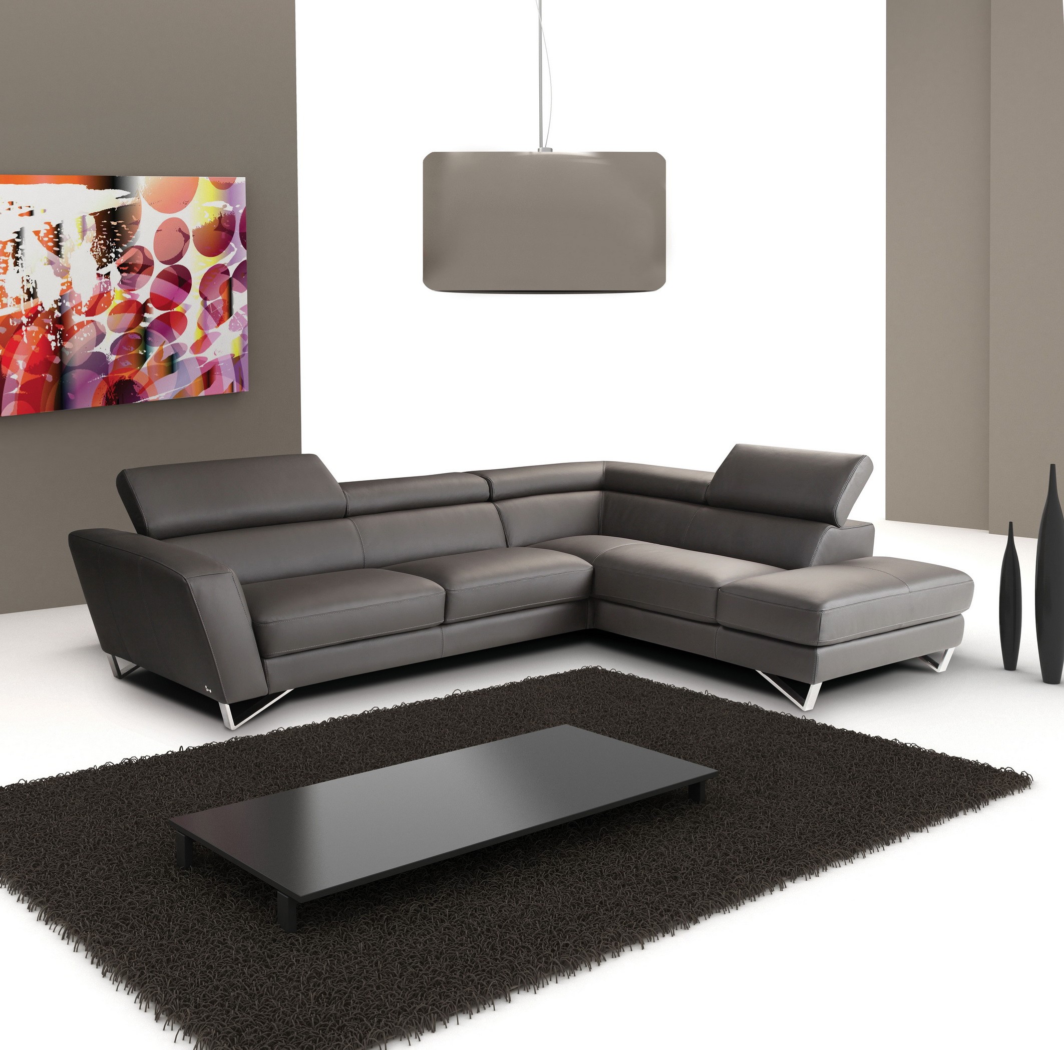 Mesmerizing black leather sectional for elegant living room design with black leather sectional sofa