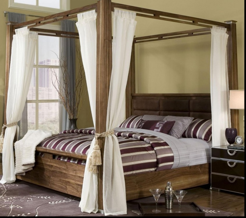 Mesmerizing King Canopy Bed For Classic Bedroom Ideas With King Size Canopy Bed