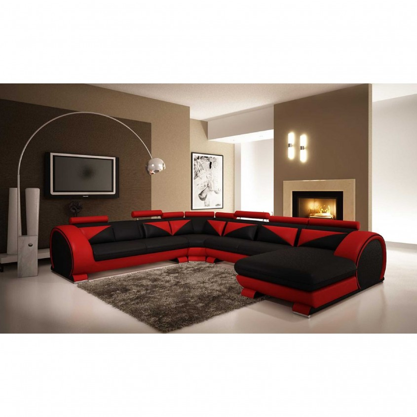 Nice Black Leather Sectional For Elegant Living Room Design With Black Leather Sectional Sofa
