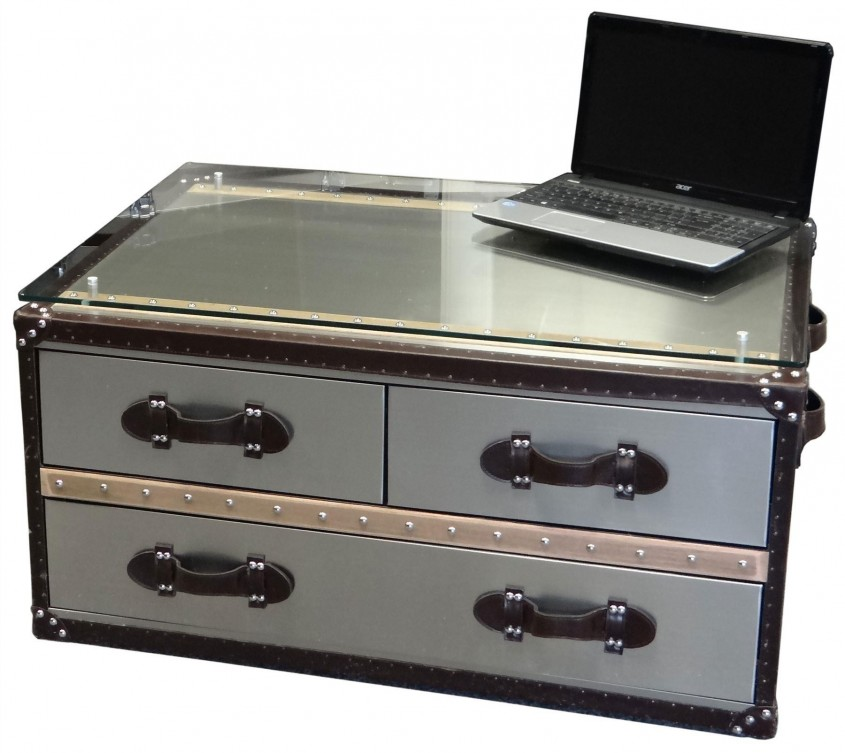 Simple Trunk Coffee Table With Darwers For Classic Home Furniture With Storage Trunk Coffee Table