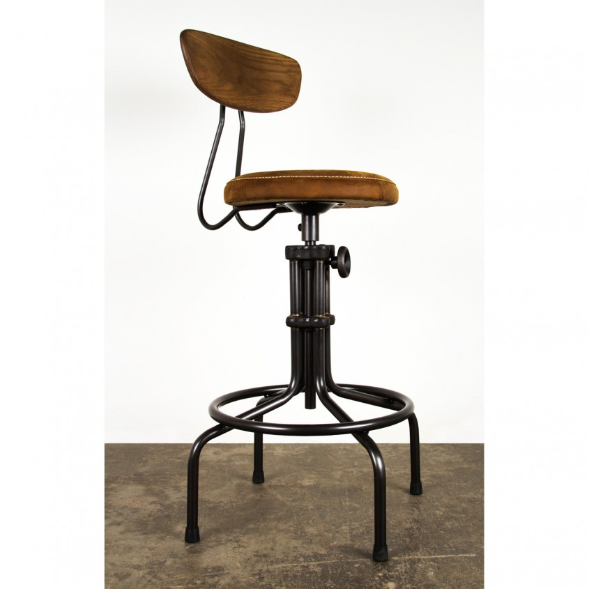 Stylish Leather Bar Stools For Home Furniture With Leather Swivel Bar Stools