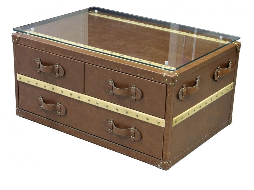 Unique Trunk Coffee Table With Darwers For Classic Home Furniture With Storage Trunk Coffee Table